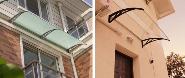 Pencereler ve fransız balkonları üzeri sundurma uygulamaları
